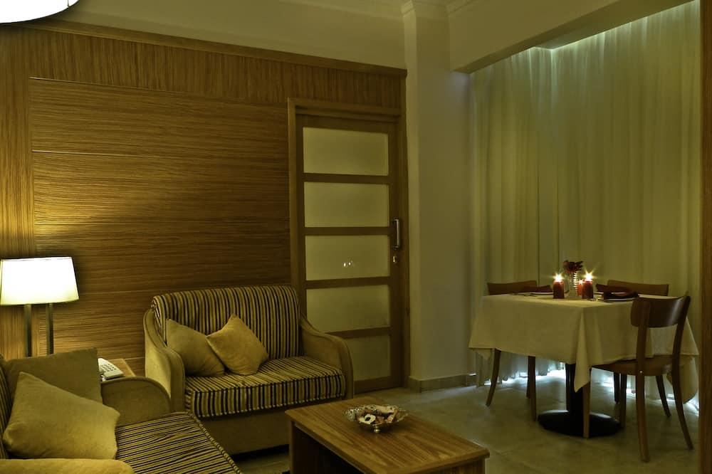 Suite, 1 chambre, vue plage - Coin séjour