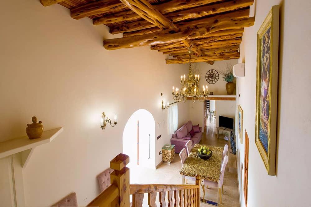 Villa, 4 slaapkamers, privézwembad (3 bathrooms) - Woonkamer