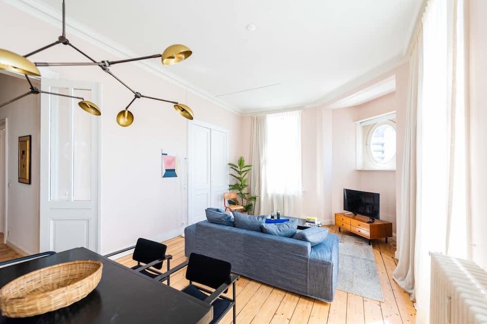 דירה דה-לוקס, 2 חדרי שינה, נוף לעיר - סלון