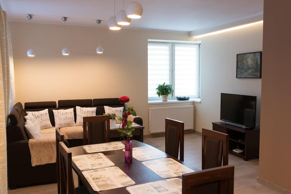 Comfort-Apartment, 2Schlafzimmer, Bergblick - Wohnzimmer