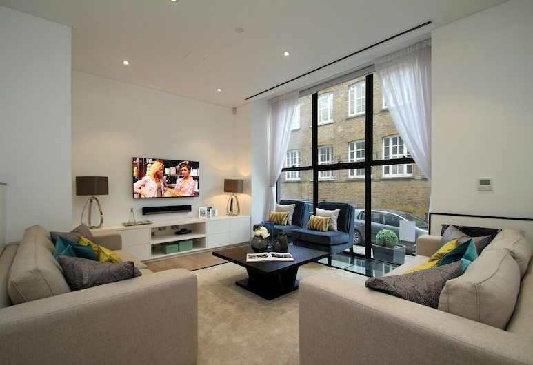 Urban Chic - Chiltern and Baker, Londres, Appartement Deluxe, Coin séjour