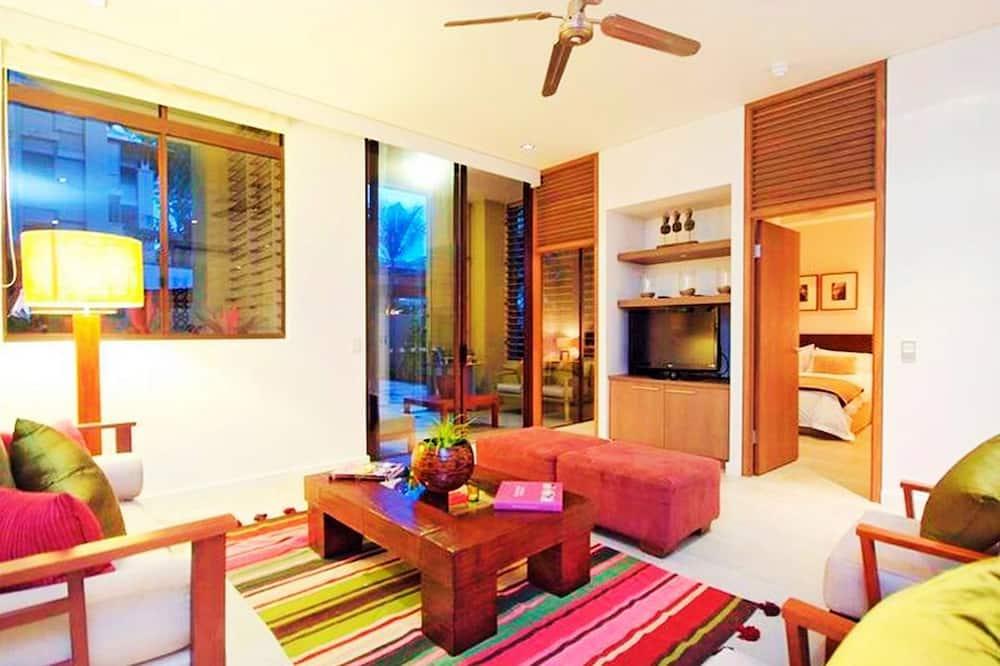 Apartament, 2 sypialnie, na parterze - Powierzchnia mieszkalna