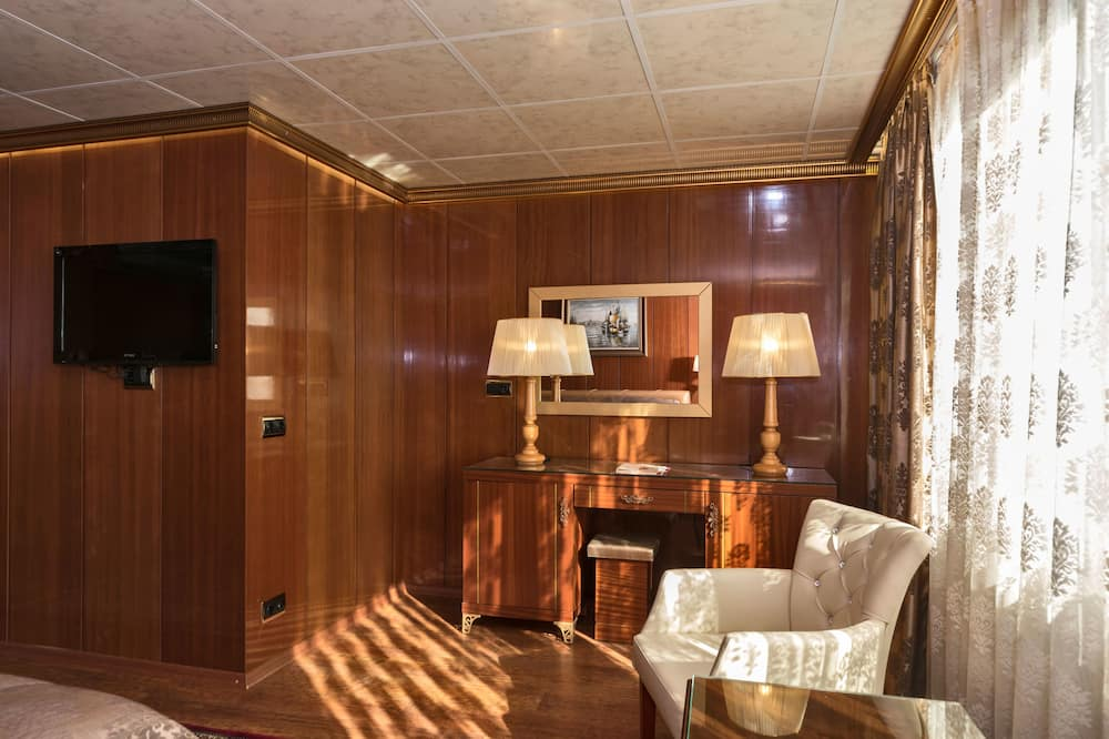 Chambre Double Deluxe, 1 lit double, vue mer - Coin séjour
