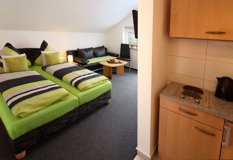 Appart-Hotel Harmonie, Winterberg, Departamento estándar, 1 cama doble (1- Raumappartment), Habitación