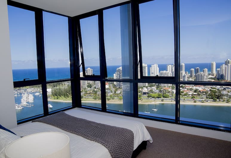 Pelicanstay in Southport Gold Coast, Southport, Apartment, 2 Bedrooms, City View, Bilik