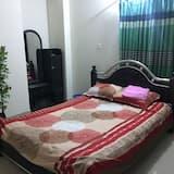 City-Apartment, 1 Queen-Bett, Küche, Stadtblick - Wohnzimmer