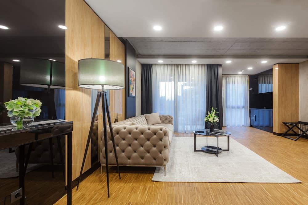 סוויטה משפחתית, חדר שינה אחד - אזור מגורים