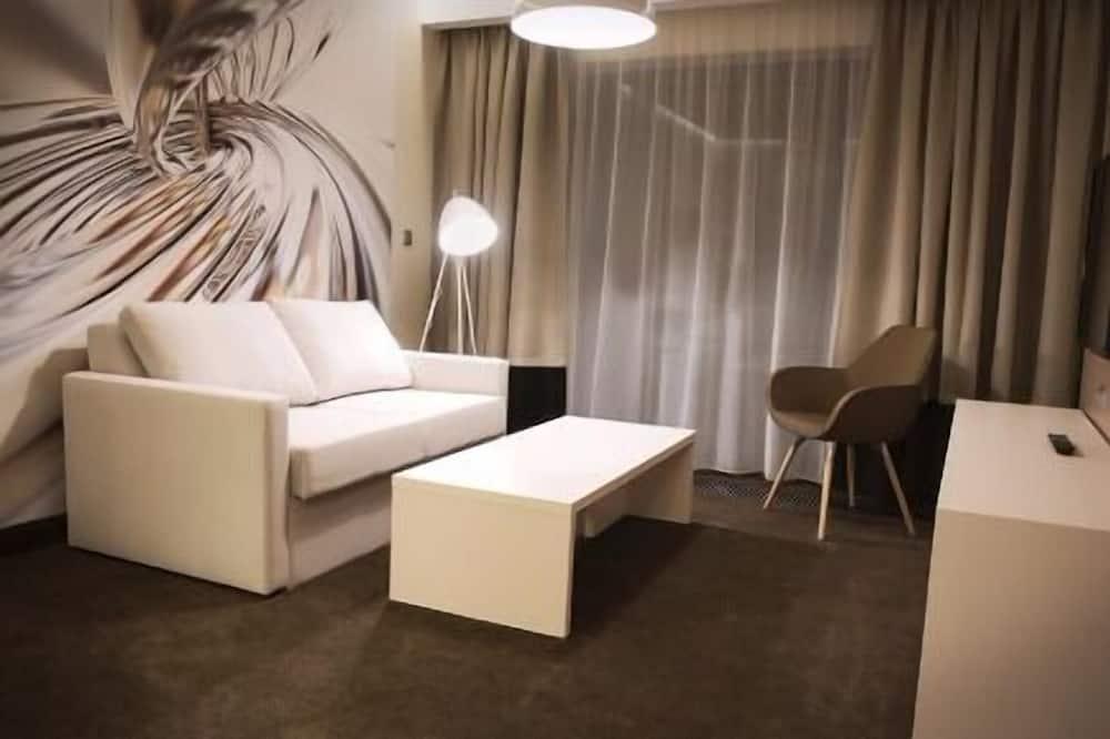 Appartement Exclusif, 1 chambre, 2 salles de bains, vue ville - Coin séjour