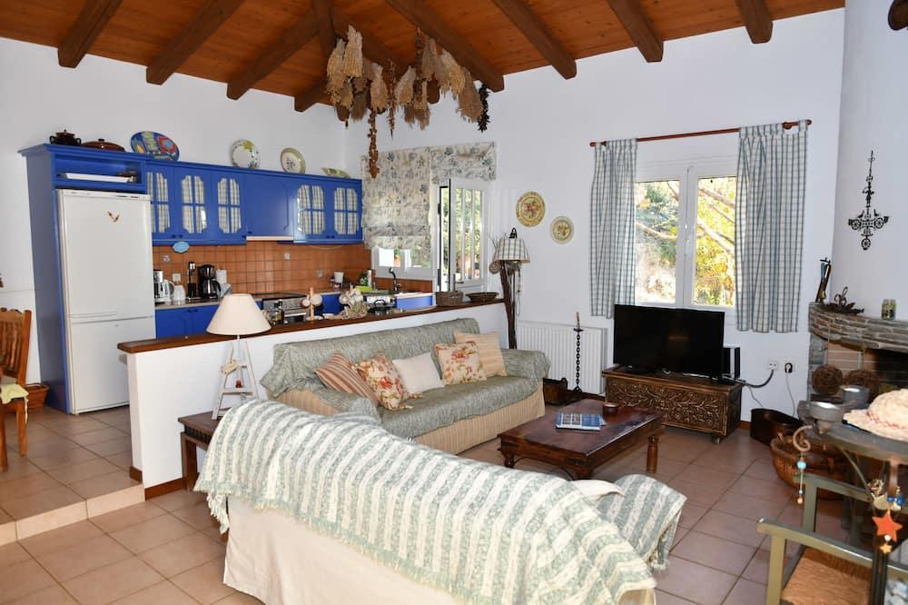 Vila, 4 spavaće sobe, pogled na more - Dnevna soba