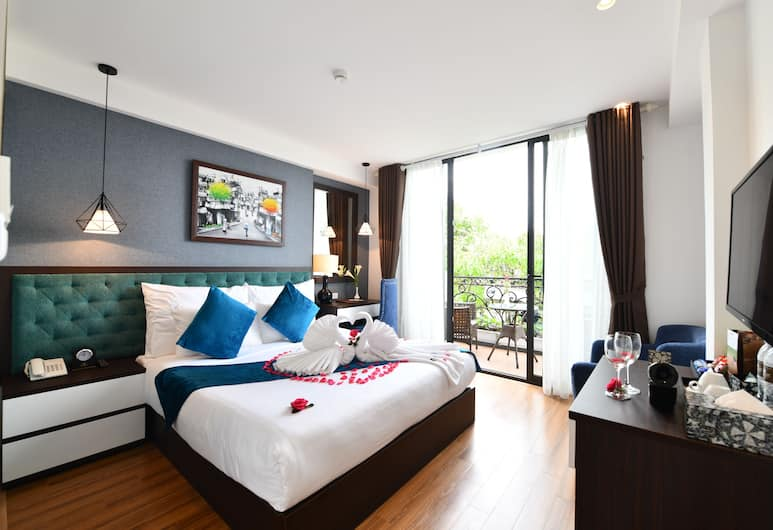Hanoi Babylon Garden Hotel & Spa, Hanoi, Honeymoon Suite, 1 King Bed, Balcony, City View, Guest Room