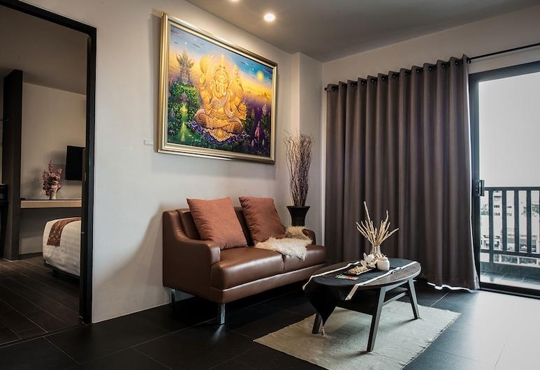 Mandy Nok Hotel,  Nakhon Si Thammarat, Grand Suite Room, Dnevna soba