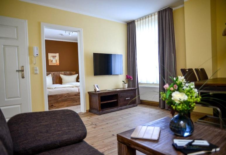 Apartment Central am Zoo, Leipzig, Apartamento, 2 Quartos, Sala de Estar