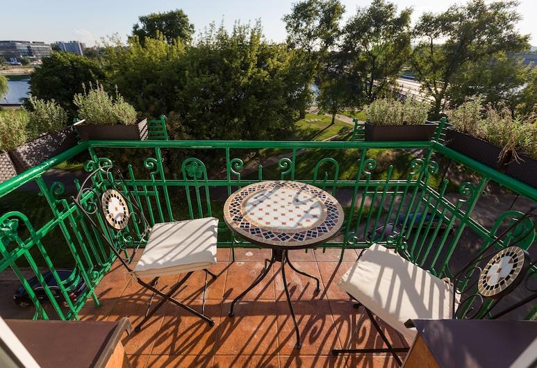Wawel Apartments - Riverside Castle, Krakow, Deluxe 3-Room Suite with River View #22, Balkon