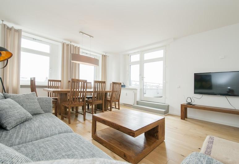 Appartement Ontop, Hamburg, apartman (onTop), Nappali rész