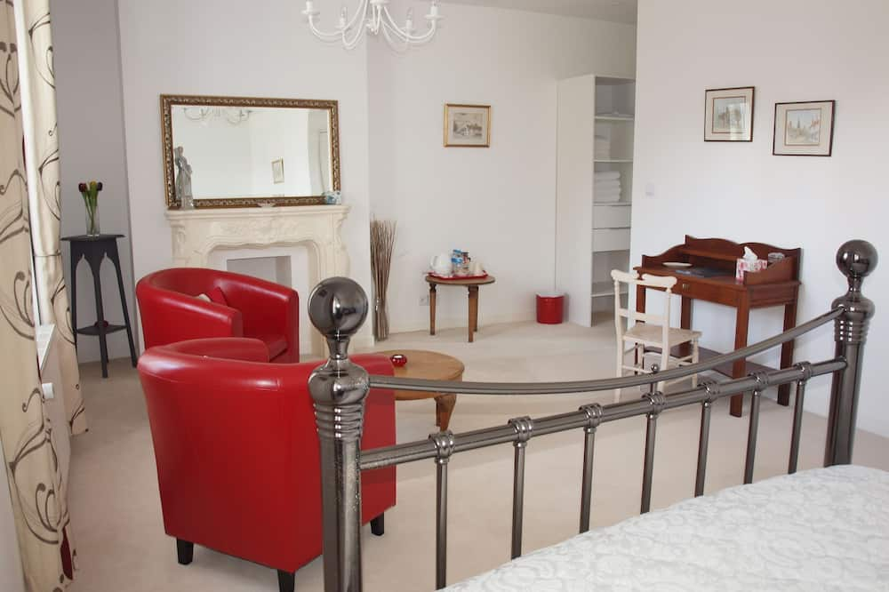 Deluxe Double Room, 1 King Bed, Non Smoking - Living Area