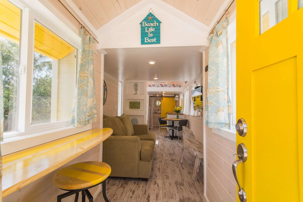 Cabin (Tiny House - Yellow Lifeguard Stand) - Living Area