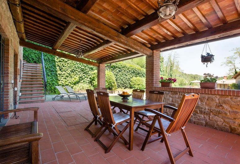 Villa il Castellaccio, Greve in Chianti, Lejlighed - 2 soveværelser - handicapvenligt - terrasse, Terrasse/patio