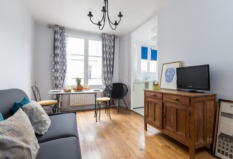 孚日廣場 - 巴士底公寓酒店, 巴黎, 都會公寓, 1 間臥室, 小廚, 客廳