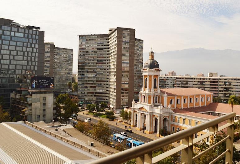 Apartamento Living Bea, Santiago, Standaard appartement, 1 queensize bed met slaapbank, Uitzicht op stad