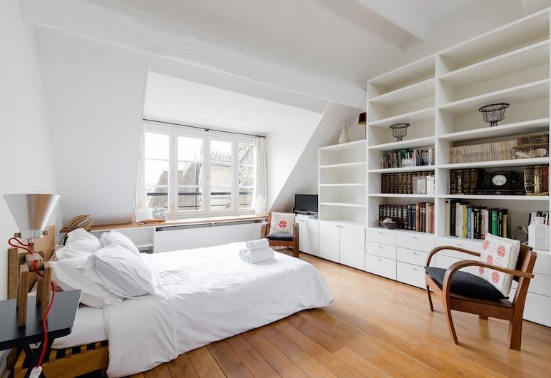 瑪黑區 - 別墅公寓客房酒店, 巴黎, 都會開放式客房, 1 張標準雙人床, 廚房, 城市景, 客廳