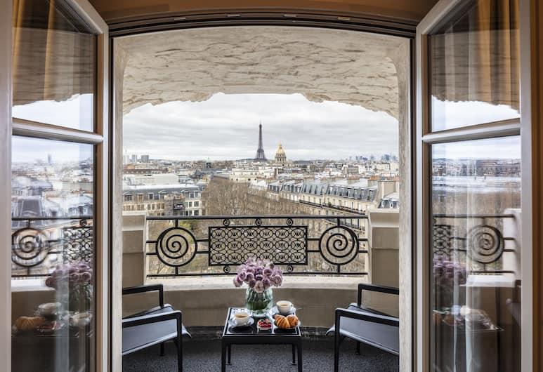 Hôtel Lutetia, The Leading Hotels of the World, París, Svíta - verönd (Suite Amour with Eiffel View), Herbergi
