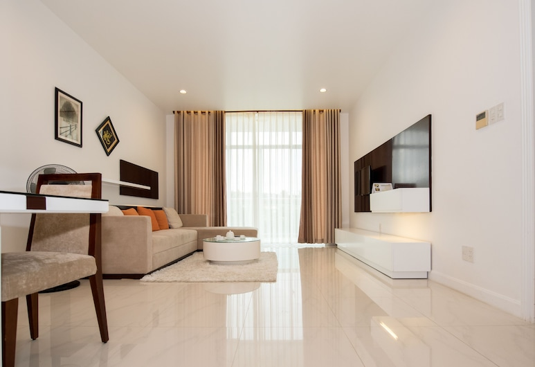 Garden view Apartment - 2 mins to beach, พานเทียต, อพาร์ทเมนท์, 1 ห้องนอน, พื้นที่นั่งเล่น