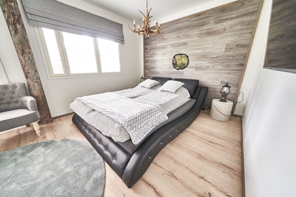Romantiško stiliaus apartamentai, 1 miegamasis, sauna - Svetainė
