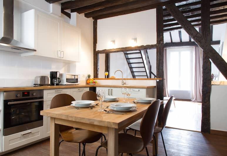 St. Germain des Pres - Flore Apartment, Paryż, Apartament, 2 sypialnie, Wyżywienie w pokoju