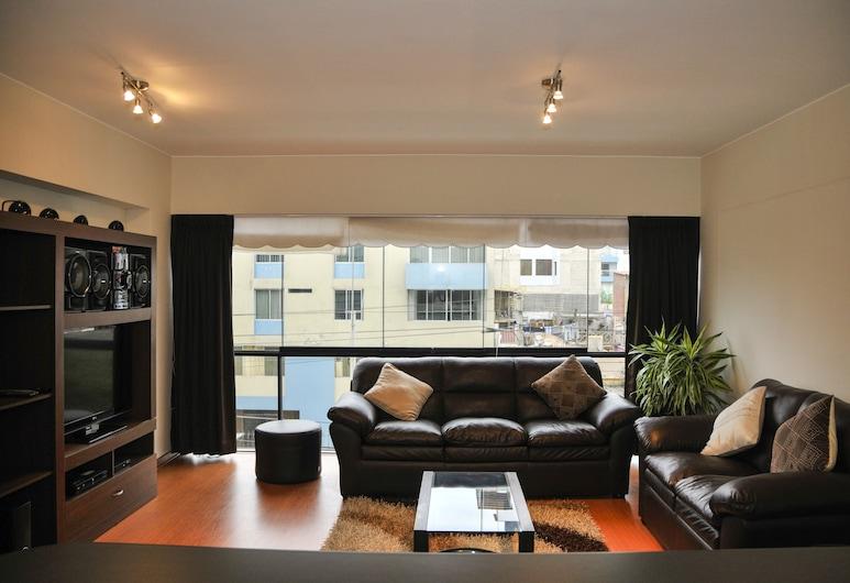 Lux Miraflores Apartments Tripoli, Lima, Appartement, 1 chambre, Salle de séjour