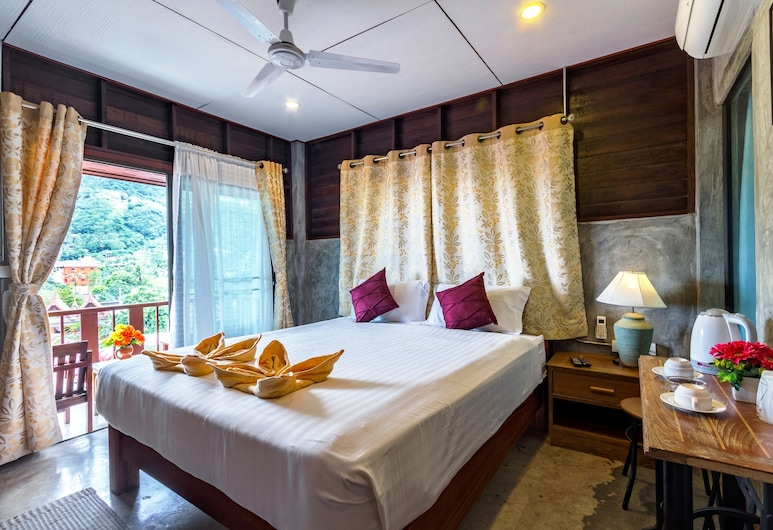 Kanya Cozy Bungalows Kata Beach, Karon, Deluxe Bungalow with Balcony, Chambre