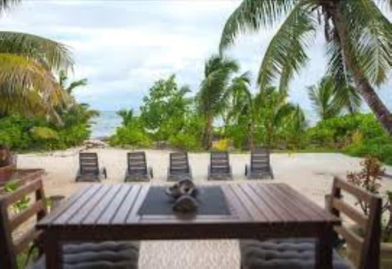 Seashell Beach Villa, Insel Praslin, Zimmer, Meerblick, Terrasse/Patio