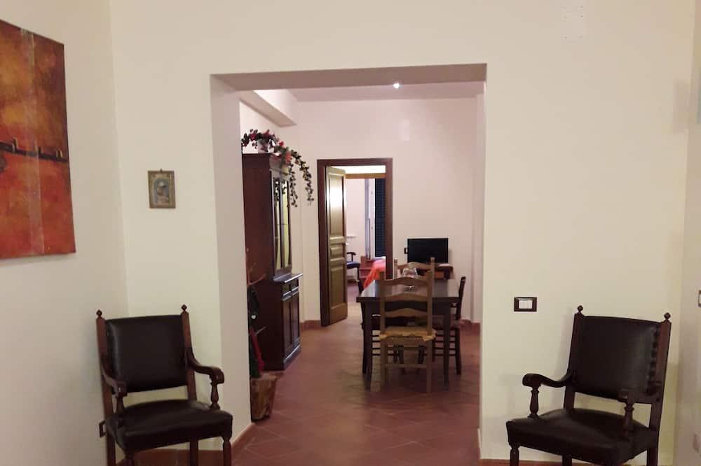 Appartamento Comfort, 3 camere da letto, vista città (Teatro Massimo) - Area soggiorno