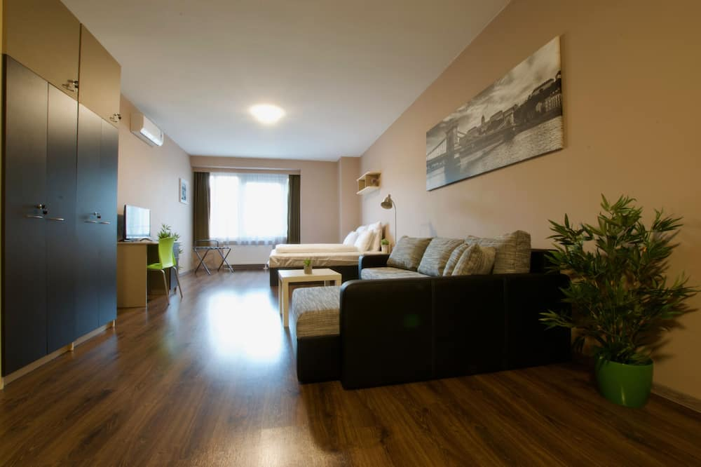 Standard 1 Bedroom Apartment with City view - Living Area