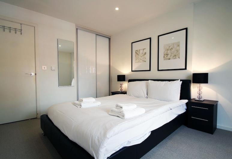 Angel Serviced Apartments by TheSqua.re, London, Deluxe külaliskorter, 1 magamistoaga, kööginurgaga, vaade linnale, Tuba