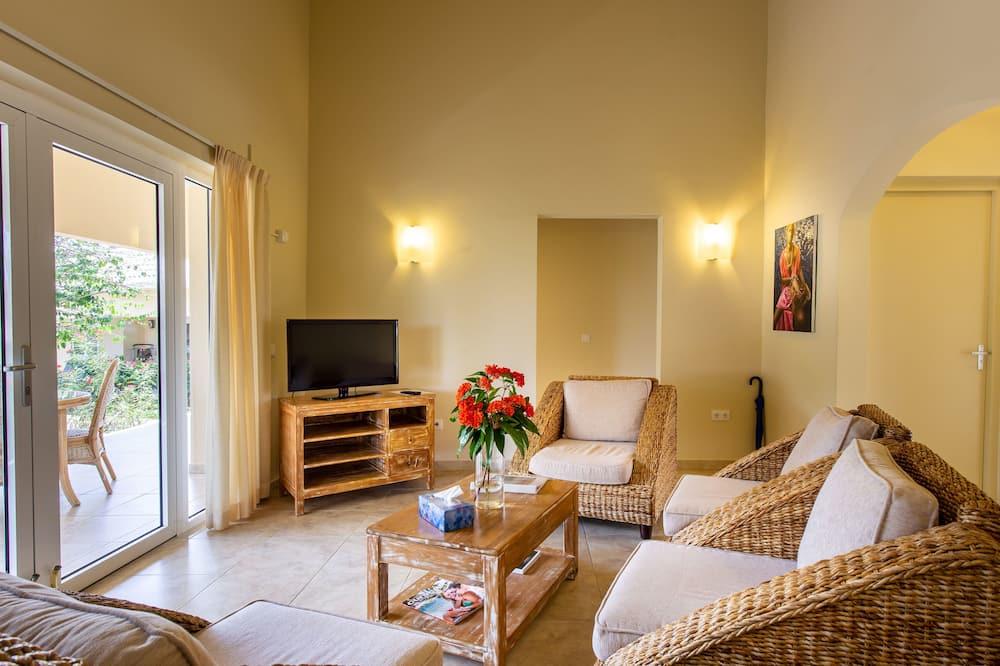 奢華別墅, 2 間臥室, 花園景 - 客廳