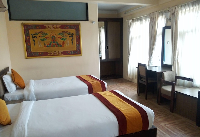 Boudha Stupa View Guest House, Kathmandu, Deluxe Double or Twin Room, Guest Room