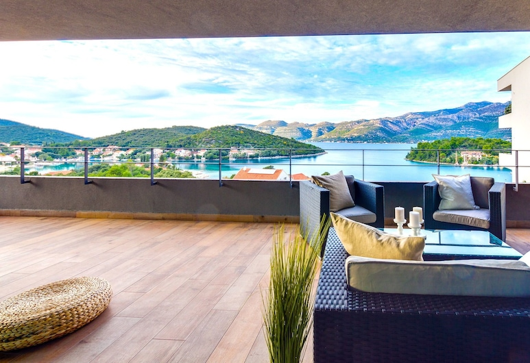 Korcula Hill, Korcula, Exclusive Apartment, 3 Bedrooms, Terrace, Sea View, View from room