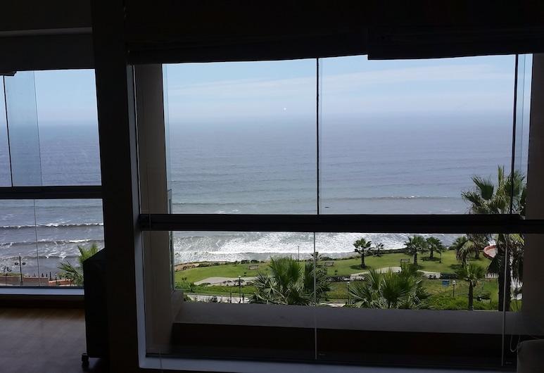APART PERU II, Lima, Apartmán, 2 ložnice, výhled na oceán, Výhled zpokoje