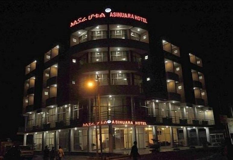 Asinuara Hotel, Bahir Dar, Hotellets facade - aften/nat