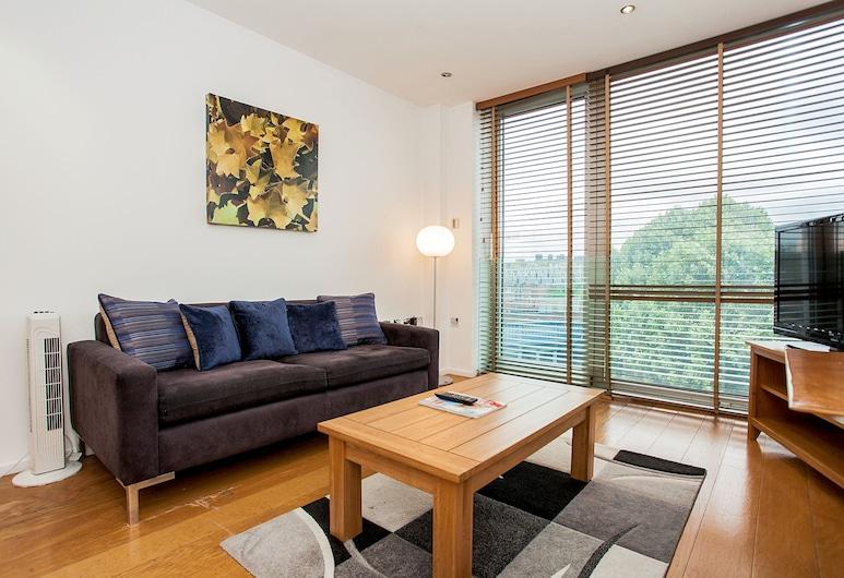 驚人現代中央 1 床酒店 - 倫敦塔橋, 倫敦, 公寓, 1 間臥室, 客廳