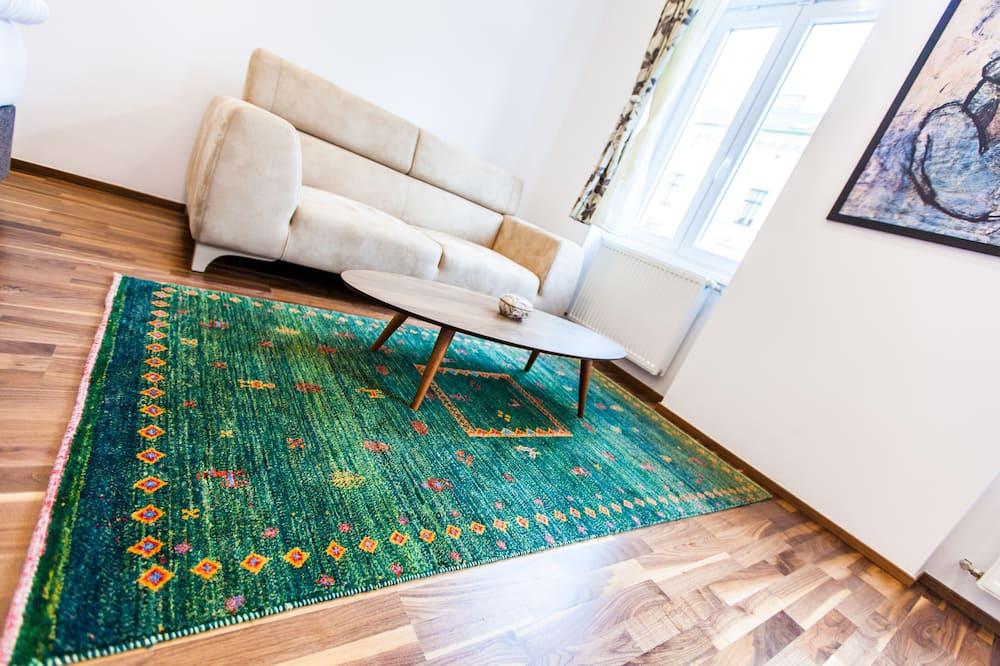 Familienapartment, 2Schlafzimmer (with garage) - Wohnzimmer