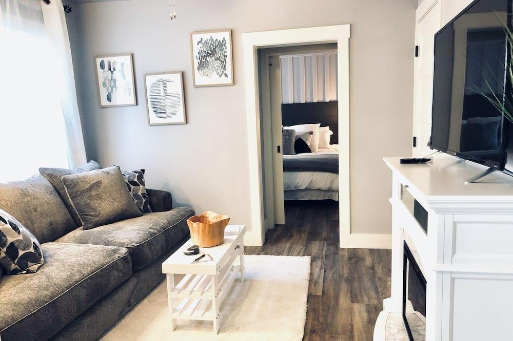 Представительские апартаменты, 1 двуспальная кровать «Кинг-сайз», кухня - Зона гостиной