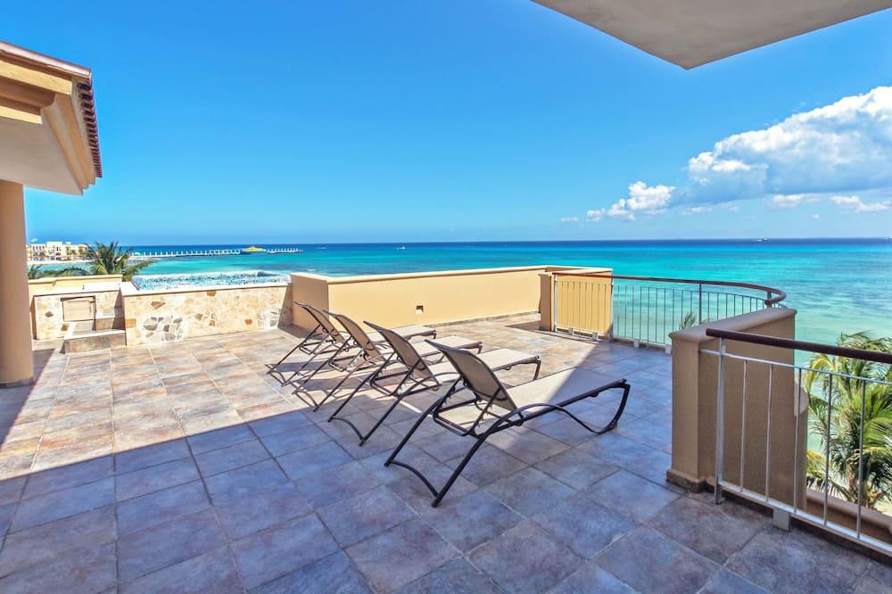 Penthouse Luxe, 3 chambres, vue océan, en front de plage - Terrasse/Patio