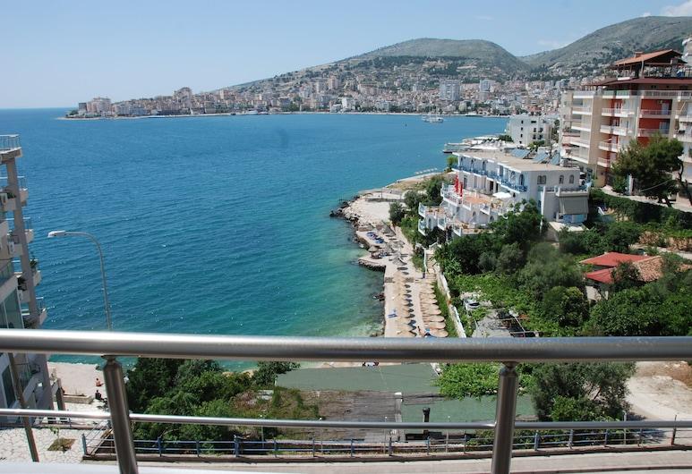 Hotel Edola, Sarandë, Tweepersoonskamer, Uitzicht op het strand, Kamer