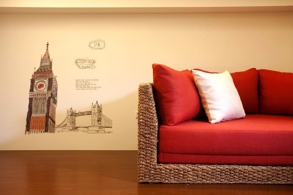 Double Room (Orange) - Living Area