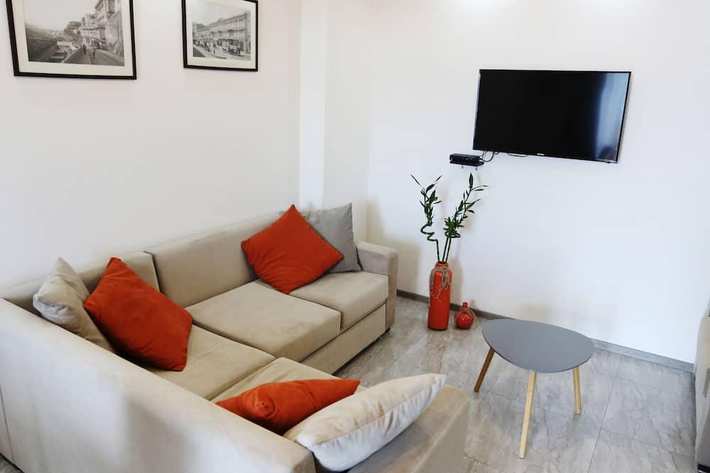 Căn hộ trung tâm thành phố, 3 phòng ngủ, Quang cảnh thành phố - Khu phòng khách
