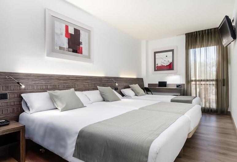 Hotel HC Mollet Barcelona, Mollet del Valles, Trippelrum - 3 enkelsängar, Gästrum
