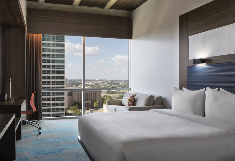 Aloft Fort Worth Downtown, פורט וורת', סוויטה, מיטת קינג, ללא עישון, חדר אורחים