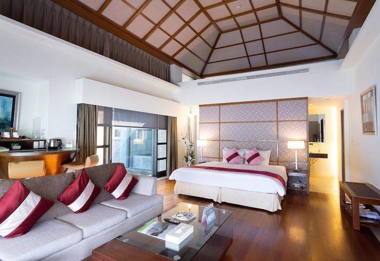 Jianshanpi Jiangnan Resort, Tainan, Dvojlôžková izba typu Executive, Obývacie priestory