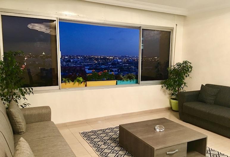 Luxurious Apartment 2 Mars, Casablanca, Departamento Deluxe, 2 habitaciones, Sala de estar